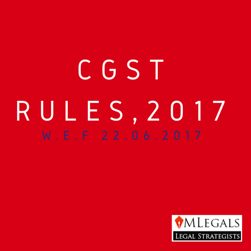 cgst rules,2017