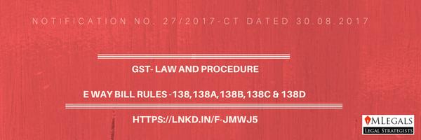 Rule 138 to 138D of Eway Bill