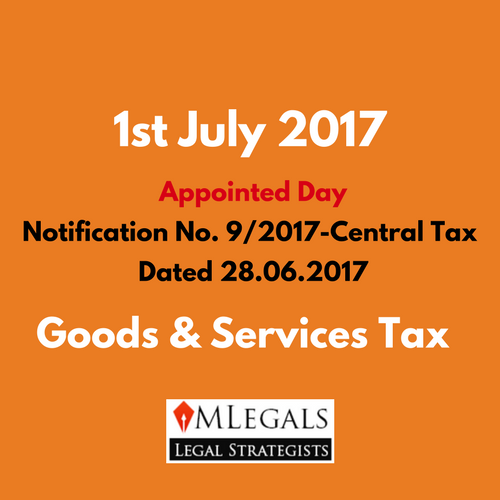 1st July 2017 as appointed Day