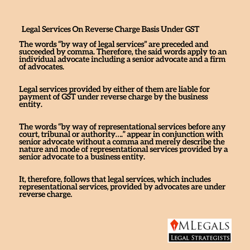 Legal Services On Reverse Charge Basis Under GST