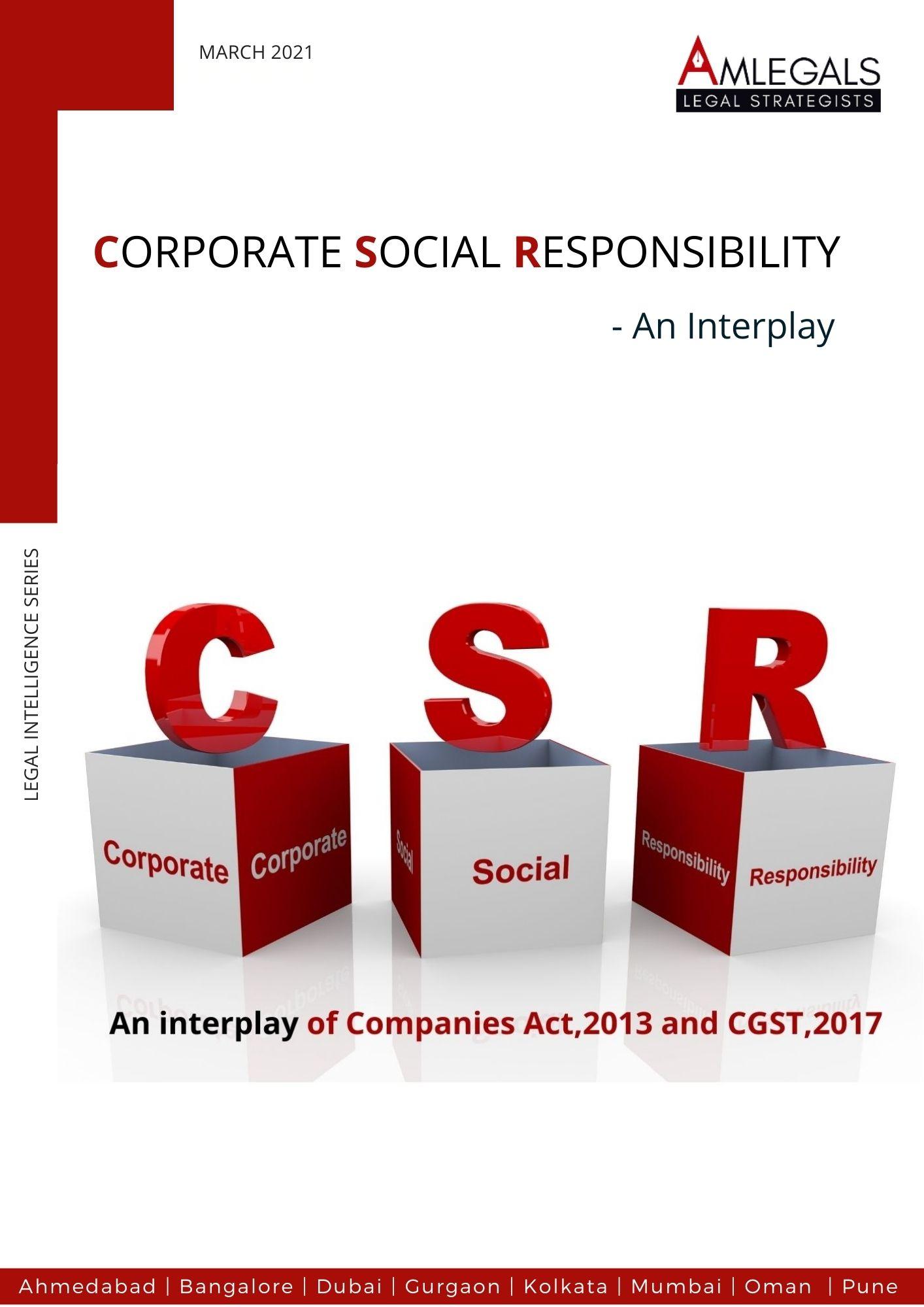 CSR-AN INTERPLAY BETWEEN COMPANIES ACT AND CGST