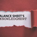 BALANCE SHEET ACKNOWLEDGEMENT
